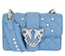 Mini Love Pearls Shoulder Bag Azzurro Tasche