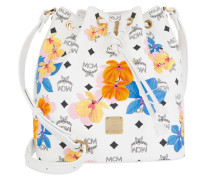 Essential Floral Print Drawstring Bag Small White Beuteltasche