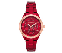 Uhr Runway Jetset Ladies Watch Red/Roségold rot