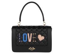 Quilted Love Shoulder Bag Black Tasche
