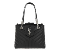LouLou Shopping Bag Y Small Quilted Leather Black Tote