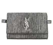 Gürteltasche Kate Belt Bag Lamé Leather Silver Black schwarz
