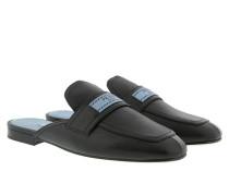 Etiquette Logo Mocassin Leather Black Schuhe