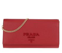Baguette Crossbody Bag Saffiano Red Tasche