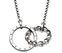 Halskette Collier Skull Love Faith Hope Silver