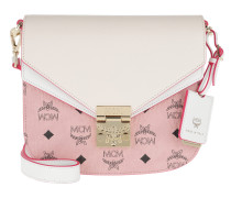 Umhängetasche Patricia Visetos Leather Block Shoulder Small Soft Pink/Shell rosa