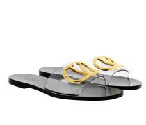Sandalen Sandal Metal Buckle Transparente/Nero schwarz