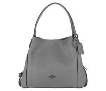 Tote Polished Leather Edie 31 Shoulder Bag Heather Grey grau