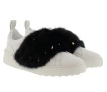 Sneaker Mink Fur Bianco/Petrolio Sneakers gold