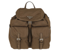 021a064e8900f Rucksack Logo Backpack Brown braun. Prada