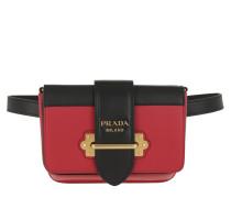 Gürteltasche Glace Cahier Belt Bag Calf Leather Fuoco Nero rot
