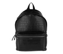 Classic City Backpack Croc Embossed Noir Rucksack