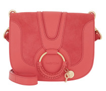 Umhängetasche Hana Crossbody Suede Smooth Small Pink rot