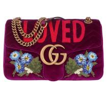 GG Marmont Bag Velvet Fuchsia Satchel Bag