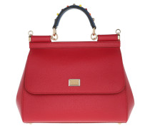 Sicily Media St. Dauphine Tote Red Satchel