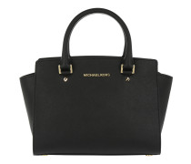 Selma MD TZ Satchel_ Black Satchel Bag