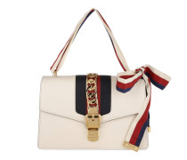 Sylvie Leather Shoulder Bag Bianco Shopper