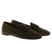 Schuhe Faye Moccasin Suede Crostina Olivia