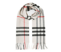 Giant Check Cashmere Scarf Stone Schal