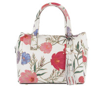 Small Alena Flower Satchel Bag Creammulti weiß