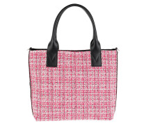 Aguglia Tweed Shopping Tote Multi Rosa Tote