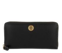 Millbrook Wallet Pebbled Leather Black/Truffle