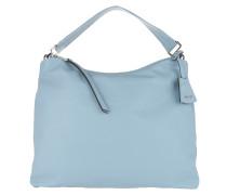 Lotus Leather Handbag Light Blue Hobo Bag