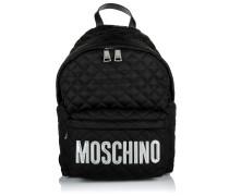 Rucksack Medium Logo Detail Backpack Black schwarz
