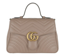 GG Marmont Small Top Handle Bag Taupe Tasche