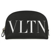 VLTN Printed Purse Leather Black Necessaire