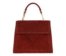 Lace Suede Handle Bag Bourgogne Satchel Bag
