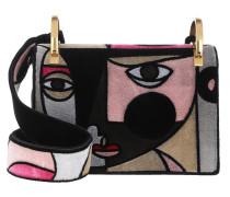 Cubis Art Shoulder Bag Embroidered Velvet Rose