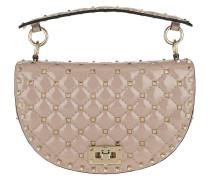 Umhängetasche Saddle Spike Crossbody Bag Patent Leather Poudre beige