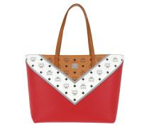 M Move Visetos Shopper Medium /White/Red Tote