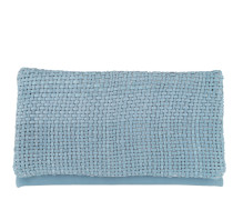 Mini Eleonor Weave Leather Fold Over Clutch Light Blue Pochette