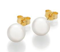Ohrringe Stud Earrings Cultured Akoya Pearl 8 Gold