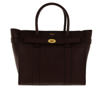Tote Bayswater Small Zipped Leather Oxblood braun