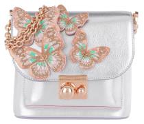 Shoulder Bag Multicoloured Butterfly Silver/Pastel