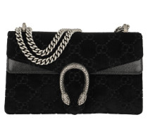 Dionysus GG Small Shoulder Bag Velvet Black Tasche