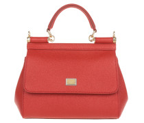 Mini Bag Sicily Vitello Stampa Rosso Tasche