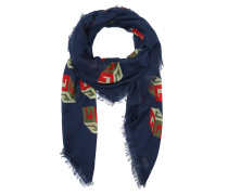 Gucci Scarf 464689 3G856 Red/Blue Schal blau