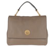 Liya Handle Bag 2 Taupe/Noir Satchel Bag