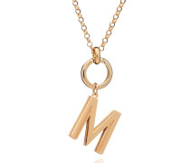 Armband Oversized Alphabet M Pendant Necklace Yellow Gold