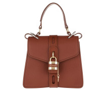 Satchel Bag Aby Shoulder Leather Sepia Brown