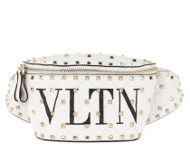 Gürteltasche VLTN Belt Bag Nappa Leather White/Black weiß