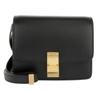 Small Box Bag Calfskin Black Clutch