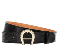Gürtel Logo Belt Black schwarz