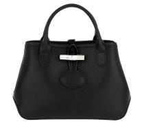 Umhängetasche Roseau Crossbody Bag Leather Black schwarz