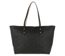 Shopper Klara Monogrammed Leather Medium Black