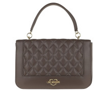 Quilted Crossbody Bag Taupe Satchel Bag